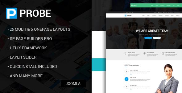 Download Probe - Responsive Multi-Purpose Joomla Theme With Page Builder Job Joomla Templates