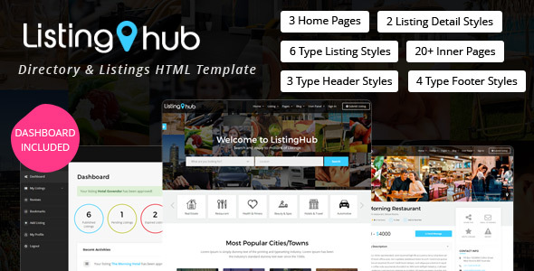 Download ListingHub - Directory & Listings HTML Template Directory Html Templates