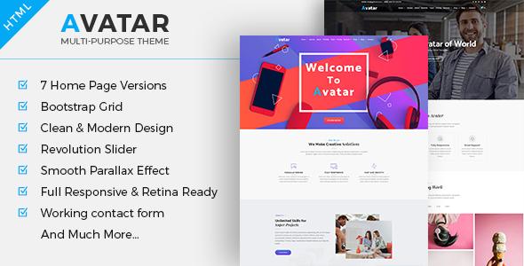 Download Avatar - Multipurpose Business HTML Template Business Html Templates