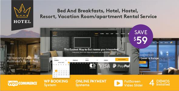 Download Hotel WordPress Theme | Hotel Queen Hotel WordPress Themes