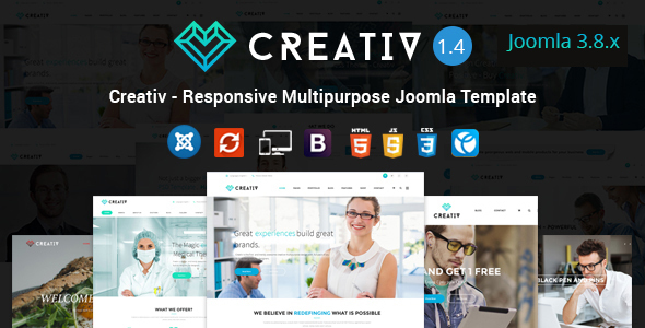 Download Creativ - Responsive Multipurpose Joomla Template Elegant Joomla Templates