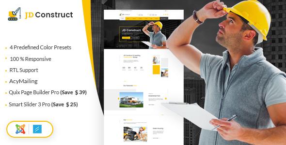 Download JD Construct - Construction & Building Joomla Template Simple Joomla Templates