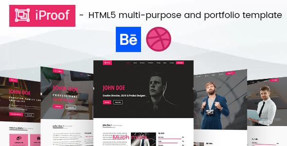 Download iProof - Multipurpose HTML Template Pink Html Templates