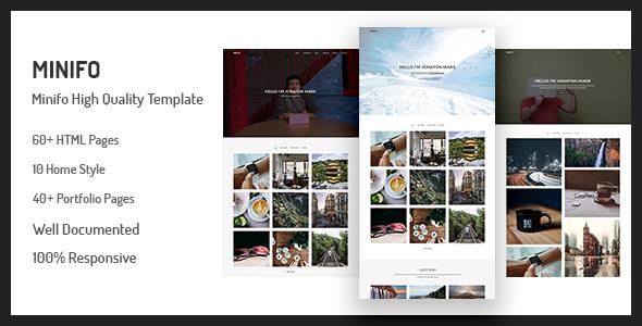Download Minifo - Minimal Portfolio HTML Template Simple Html Templates