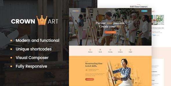 Download Crown Art | Arts School WordPress Theme School WordPress Themes
