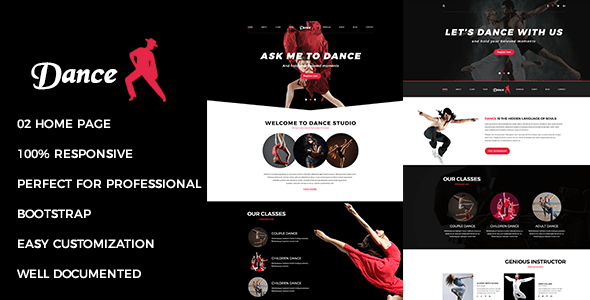 Download Dance - Responsive Multipurpose Joomla Theme With Page Builder Job Joomla Templates