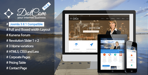 Download DotCom - Responsive Joomla Corporate Template Blog Joomla Templates