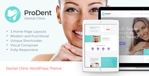 Download ProDent | Dental Clinic & Healthcare WP Theme Hospital WordPress Themes