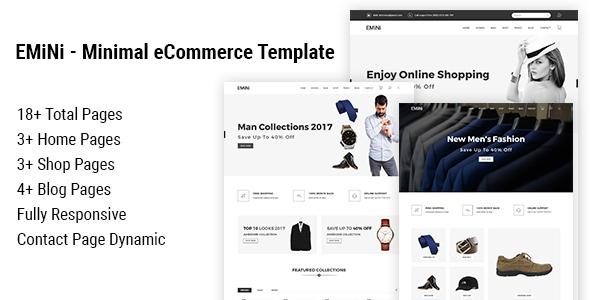 Download EMiNi - Minimal eCommerce HTML Template Simple Html Templates
