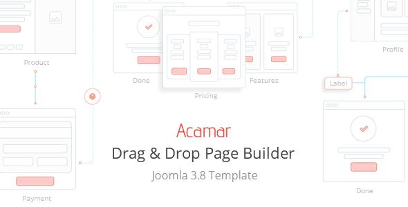 Download Acamar — Tiled Layout and Clean Design Responsive Joomla Template Clean Joomla Templates