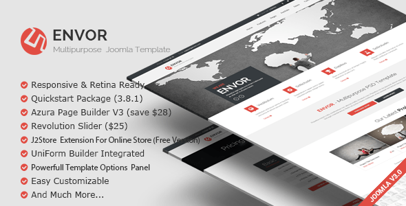 Download Envor — Fully Multipurpose Joomla Template Store Joomla Templates