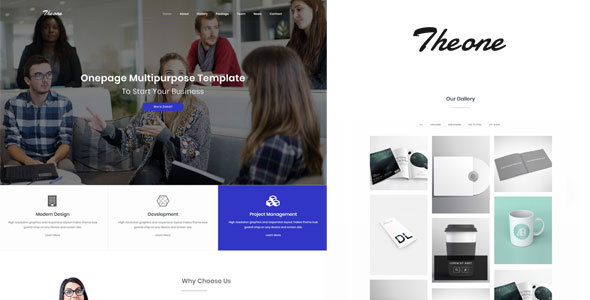 Download Theone - Onepage Multiporpose Template Onepage Blogger Templates