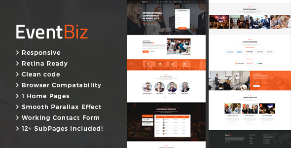 Download EventBiz - Conference & Event HTML Template Event Html Templates