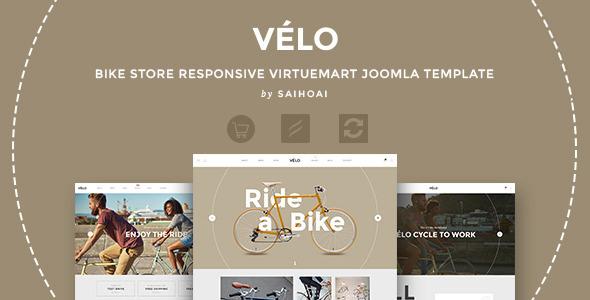 Download Velo - Bike Store Responsive VirtueMart Template Vintage Joomla Templates
