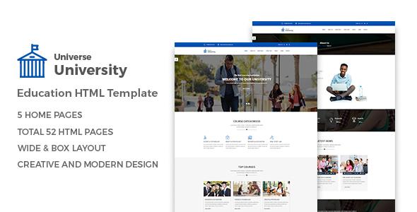 Download Universe - Education HTML Template University Html Templates