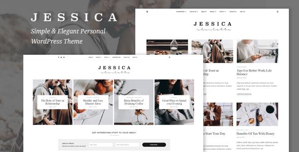 Download Jessica - Simple & Elegant Personal WordPress Theme 2 Column WordPress Themes