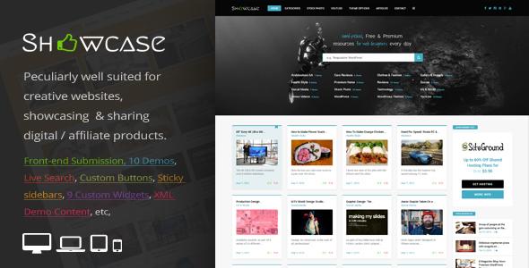 Download Showcase = Responsive WordPress Grid / Masonry Blog Theme Grid WordPress Themes