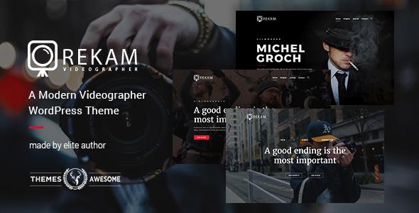 Download Rekam | A Modern Videographer WordPress Theme Modern WordPress Themes