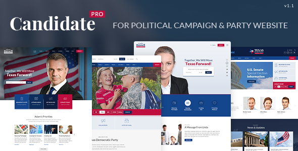 Download Candidate Pro - Political Campaign, Party, Nonprofit HTML Template Youtube Html Templates