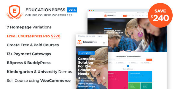 Download EducationPress - Complete Education WordPress Theme Education WordPress Themes