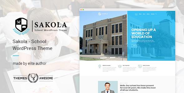 Download Sakola | School WordPress Theme School WordPress Themes