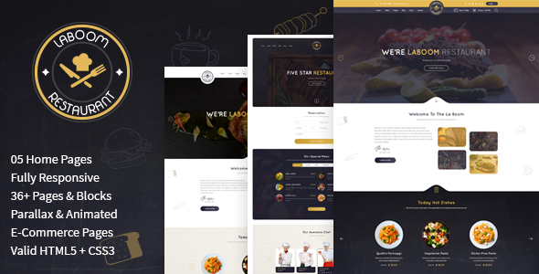Download La Boom - Food & Restaurant Bistro HTML Template Amp Html Templates