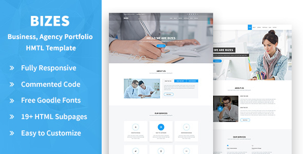 Download Bizes- Business, Agency and Portfolios HTML Template Portfolio Html Templates