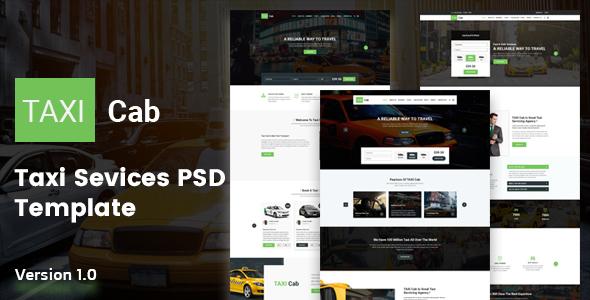 Download TAXI Cab PSD Template Minimalist Joomla Templates