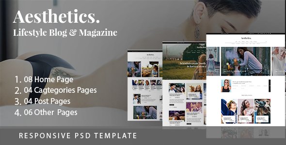 Download Aesthetics. Lifestyle Blog & Magazine PSD Template Amp Blogger Templates