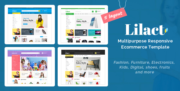 Download Lilac - Responsive Ecommerce Template Ecommerce Joomla Templates