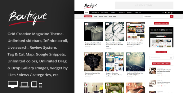 Download Boutique Grid = Creative Magazine WordPress Theme Grid WordPress Themes