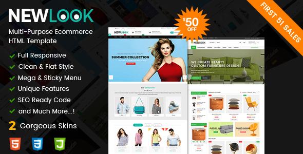 Download NewLook - Responsive Multipurpose E-Commerce HTML Template Furniture Html Templates