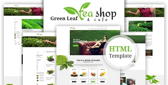 Download Green Leaf Tea Shop HTML Template Green Html Templates