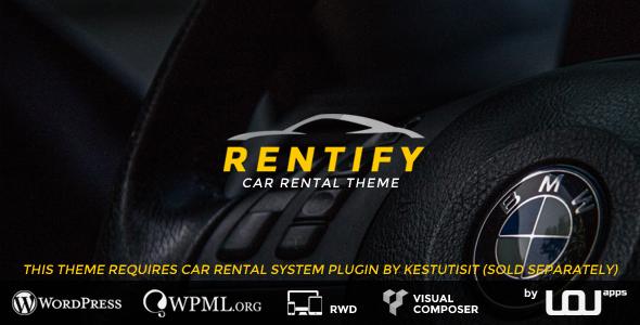 Download Rentify - Car Rental WordPress Theme Car WordPress Themes