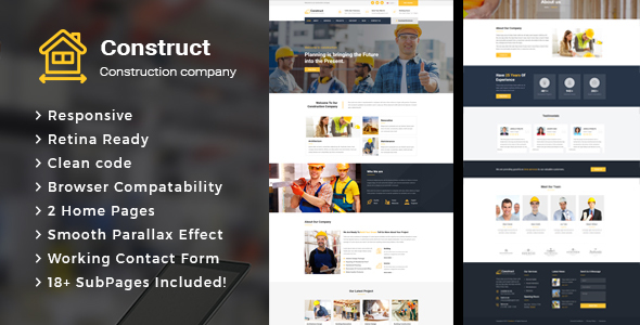 Download Construct - Construction Building Company HTML Template Company Html Templates