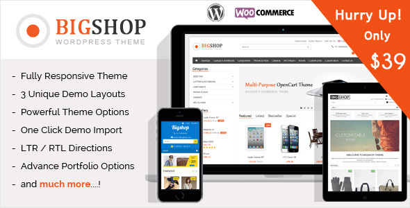Download The Bigshop - WooCommerce WordPress Theme! Woocommerce WordPress Themes