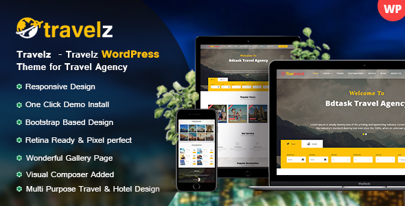 Download Travelz - Travel WordPress Theme for Tour Agency Travel WordPress Themes