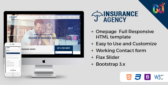 Download Insurance - Responsive HTML Template Responsive Html Templates