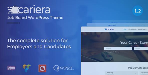Download Job Board WordPress Theme - Cariera Job WordPress Themes