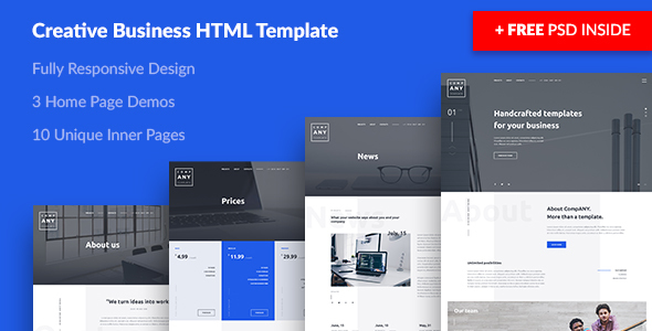 Download ANY — Creative Business HTML Template Business Html Templates