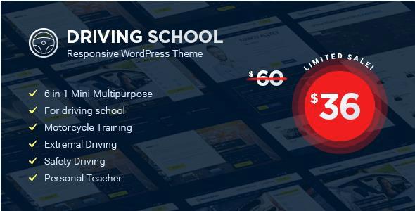 Download Driving School - WordPress Theme School WordPress Themes