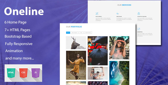 Download Oneline — Onepage HTML Template Onepage Blogger Templates