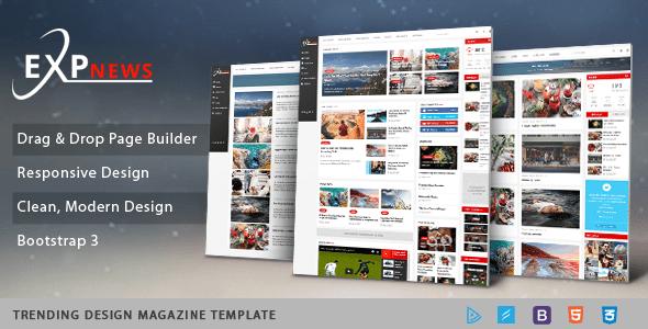 Download Sj ExpNews - Clean Drag & Drop News Portal Joomla Template Portal Joomla Templates