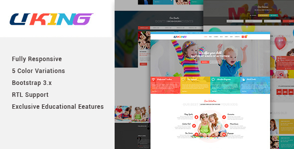 Download Uking - Responsive Joomla kindergarten Template Yellow Joomla Templates