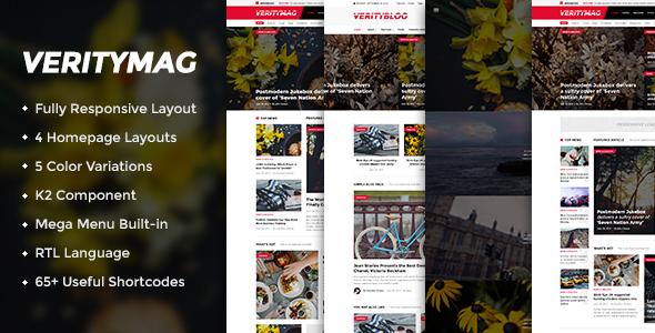 Download VerityMag - Creative News/Magazine Joomla Template Magazine Joomla Templates