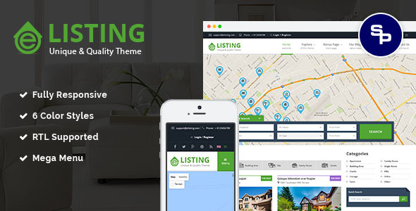 Download eListing - Responsive Real Estate Joomla Template Real Estate Joomla Templates