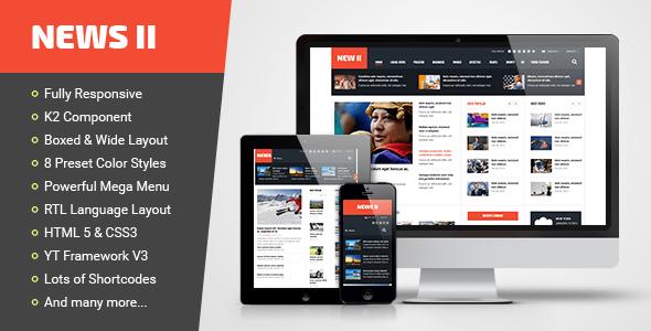Download News II - Responsive News/Magazine Joomla Template Portal Joomla Templates
