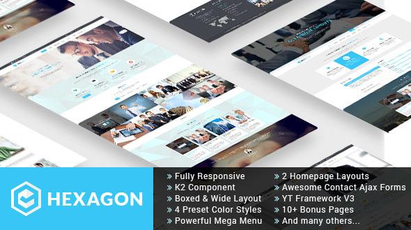 Download Hexagon - Responsive Multipurpose Business Joomla Template Video Joomla Templates