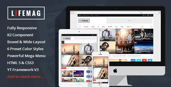 Download LifeMag - Responsive Magazine Joomla Template Magazine Joomla Templates