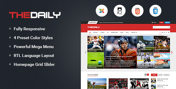 Download TheDaily - Responsive News Portal Joomla Template Portal Joomla Templates